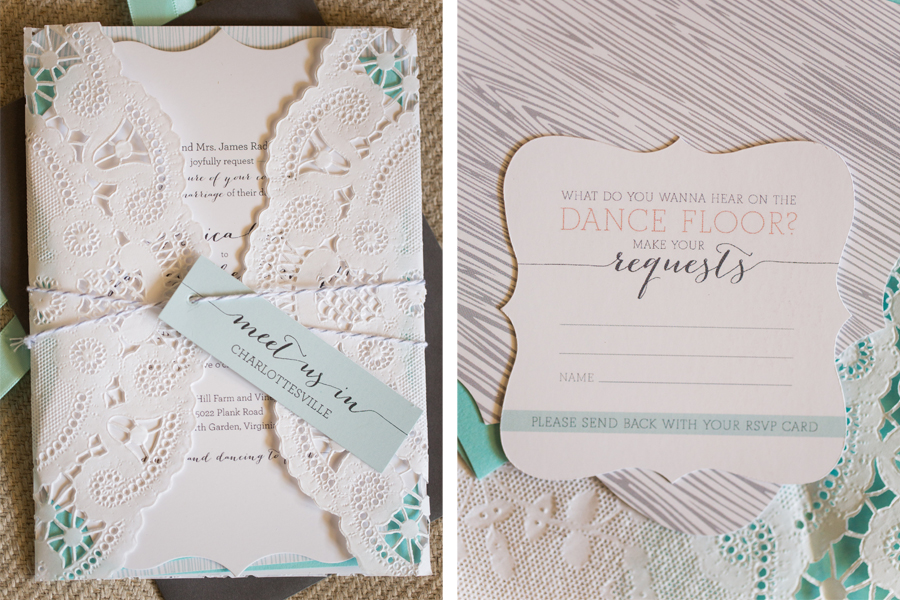 Our Mint Coral Wedding Invitations Jess Creates Graphic Design