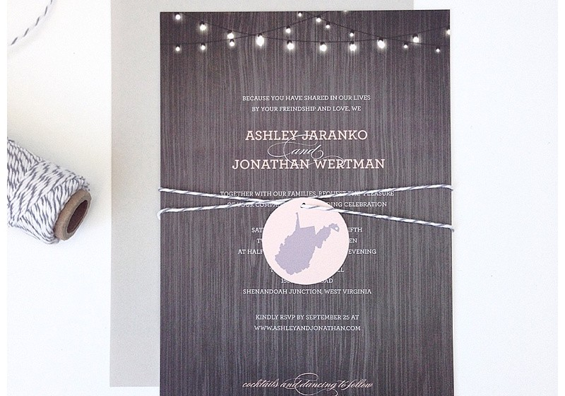 Peach and Gray Wedding Invitations
