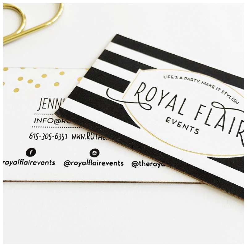 Gold Foil Business Cards