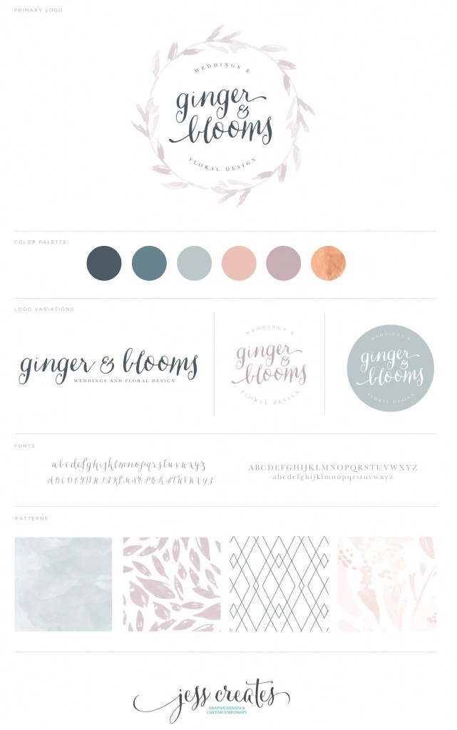 Ginger & Blooms Brand Board