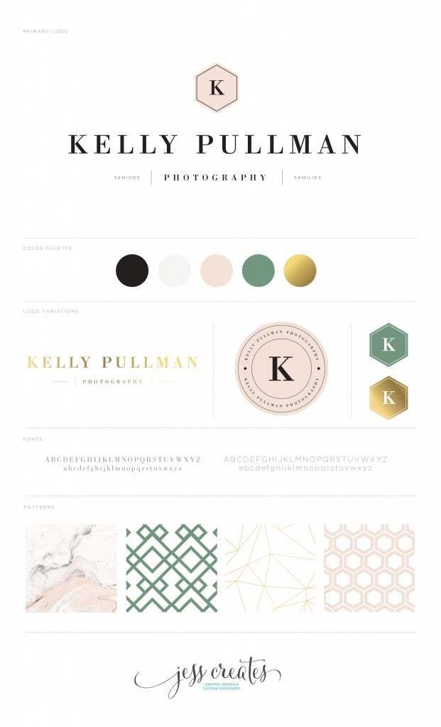 Kelly Pullman Photography Brand Board